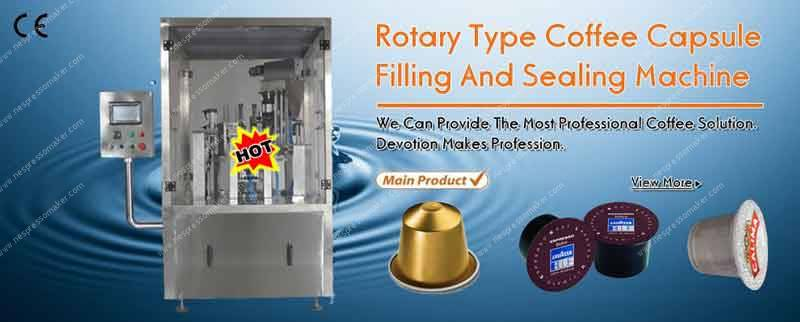 Rotary Type Nespresso Coffee Capsule Filling Sealing Machine