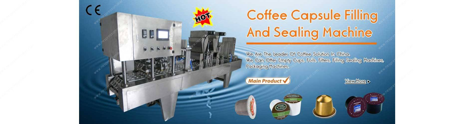 Full Automatic Lineary Type Coffee Capsules Filling Sealing Machine