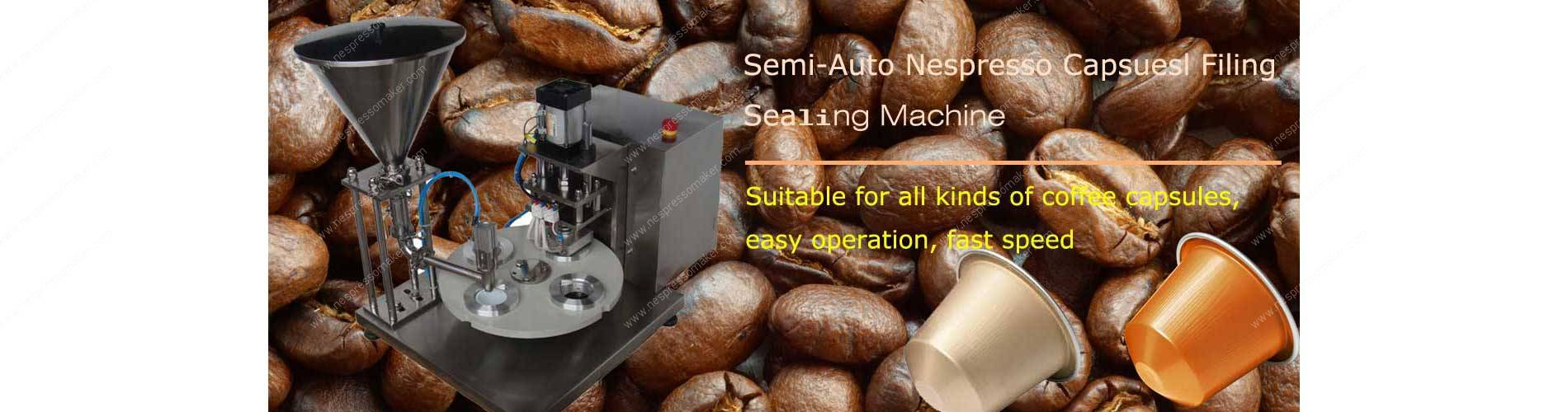 Sem-Automatic Nespresso Capsules Filling Sealing Machine