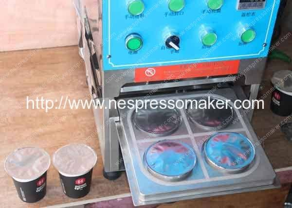 Roll Film Manual Nespresso Sealing Machine